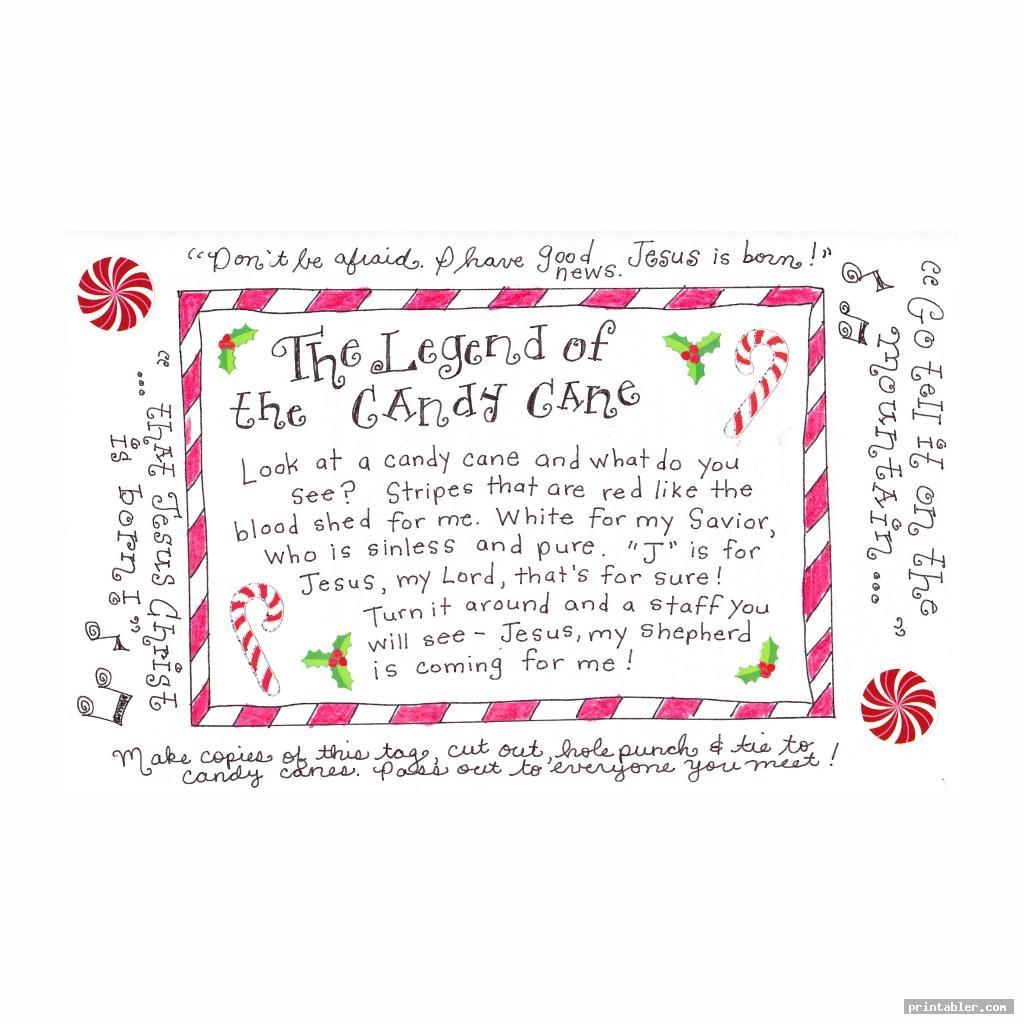 cute candy cane prayer printable