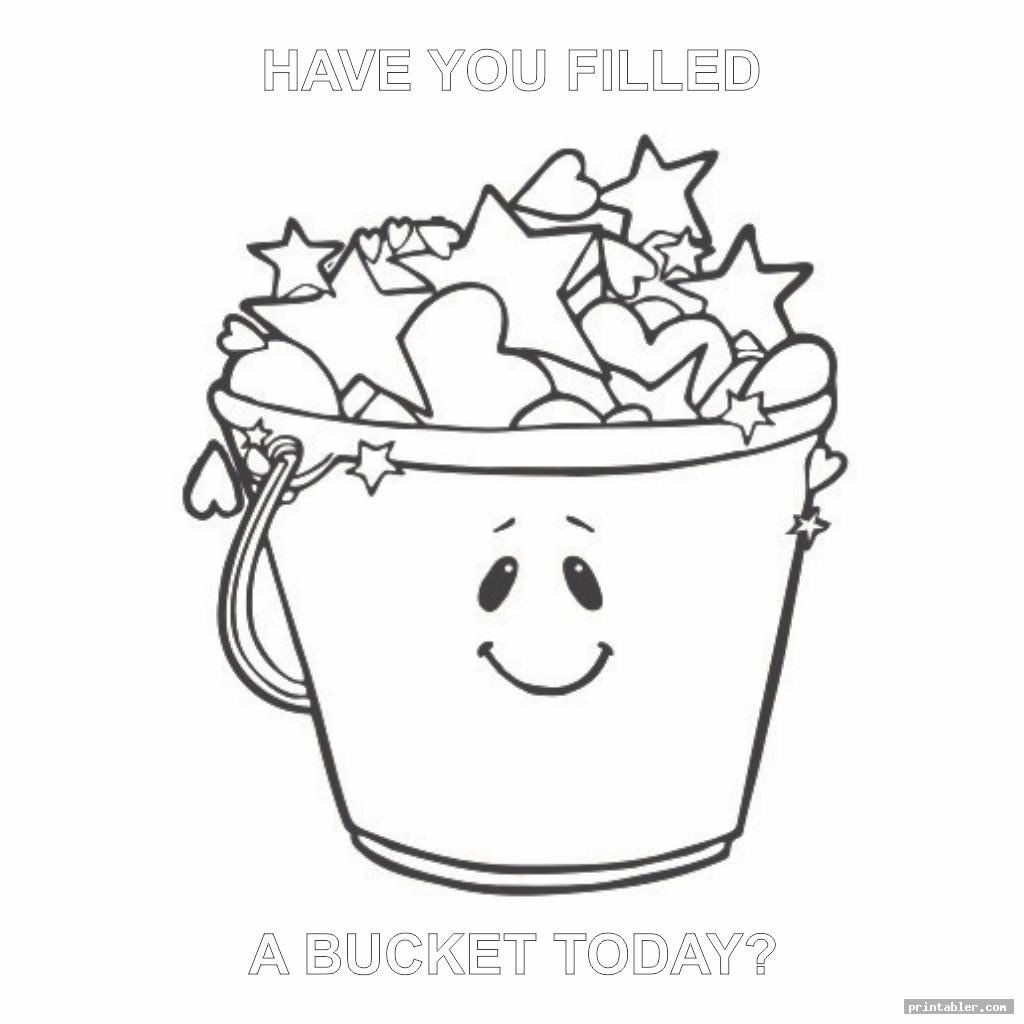 picture about Bucket Printable named Comprise Oneself Crammed a Bucket At present Coloring Site Printable