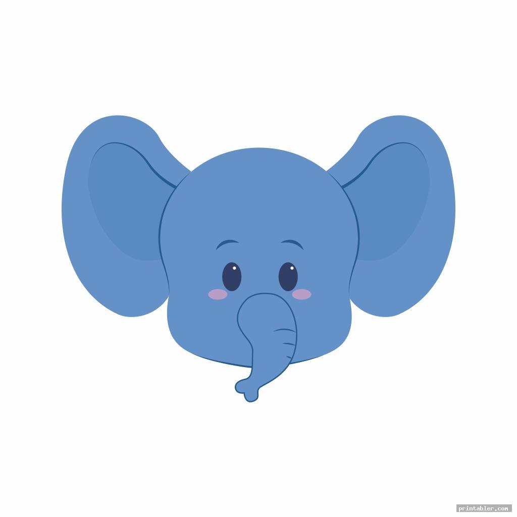 cute printable elephant trunk