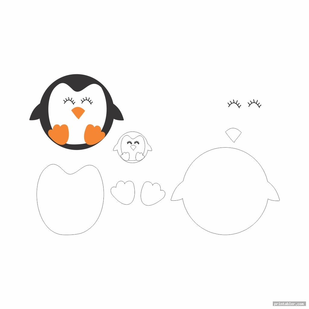 cute printable patterns felt penguin