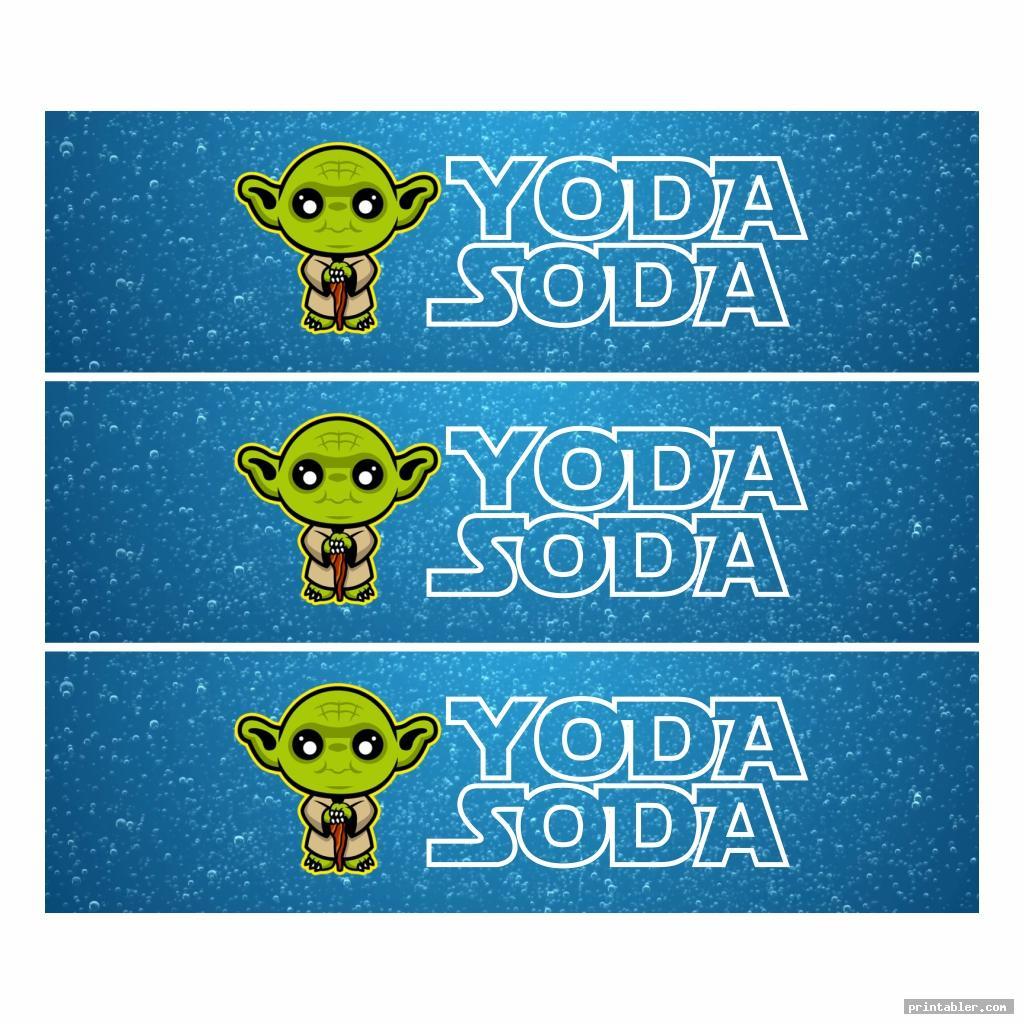 cute yoda soda label printable