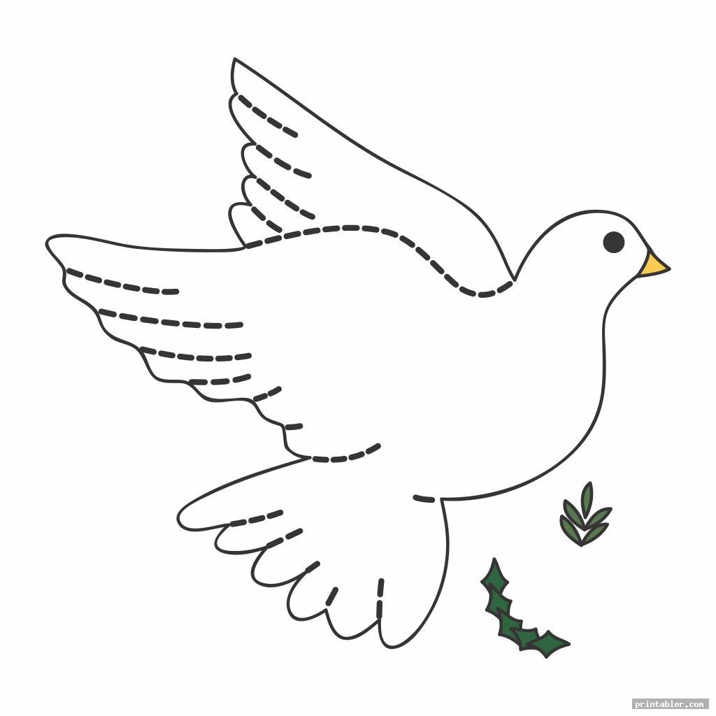 dove christmas felt ornaments templates