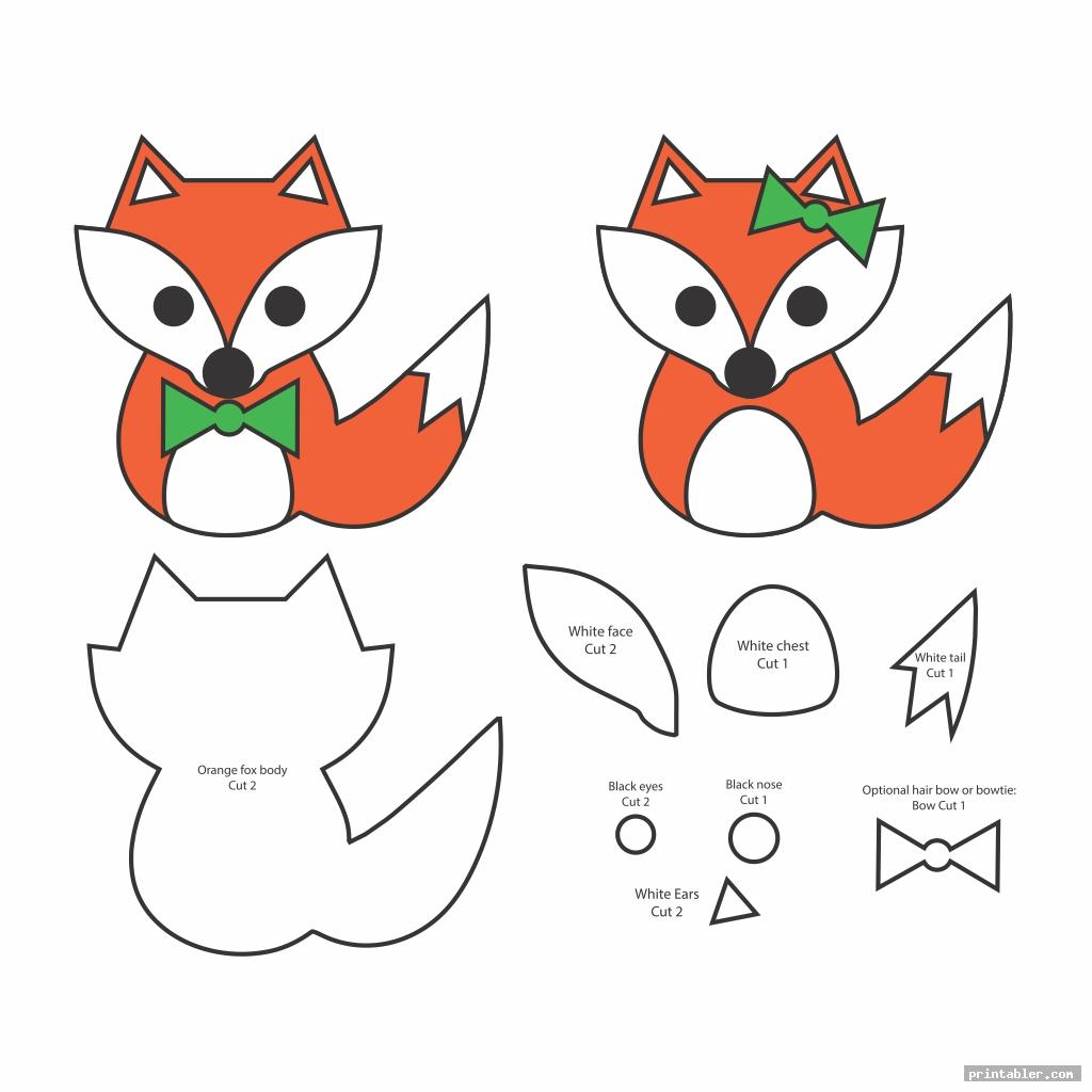fox christmas felt ornaments templates