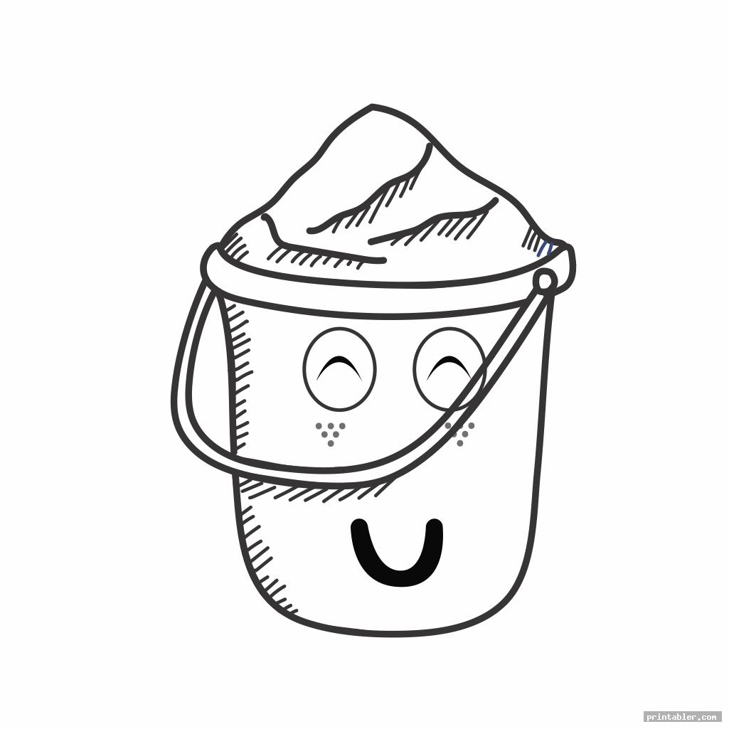 funny have you filled a bucket today coloring page printable