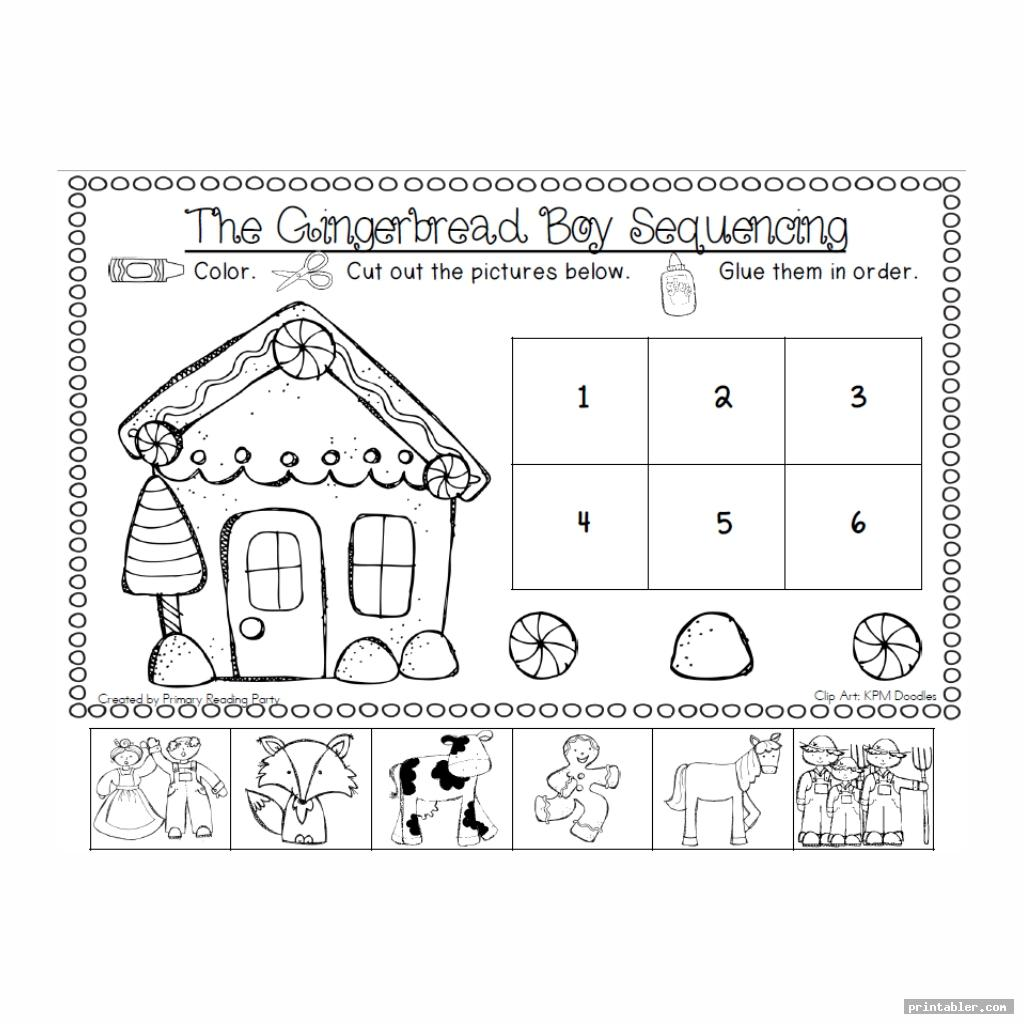 gingerbread man sequencing printable for kids