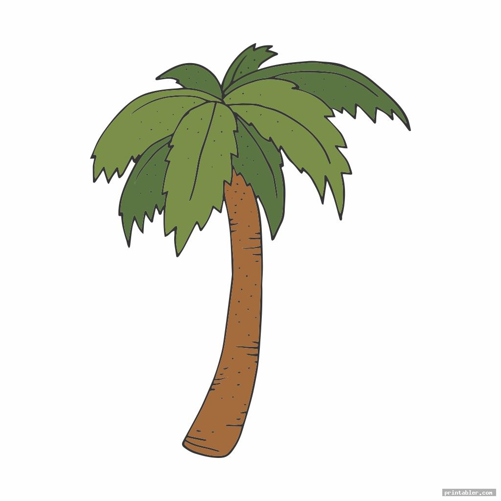 Coconut Tree Template Printable