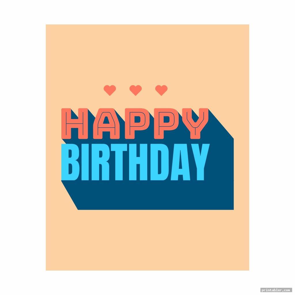 happy birthday banner printable image free