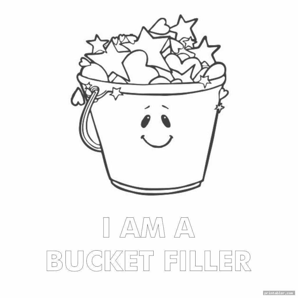 have you filled a bucket today coloring page printable image free