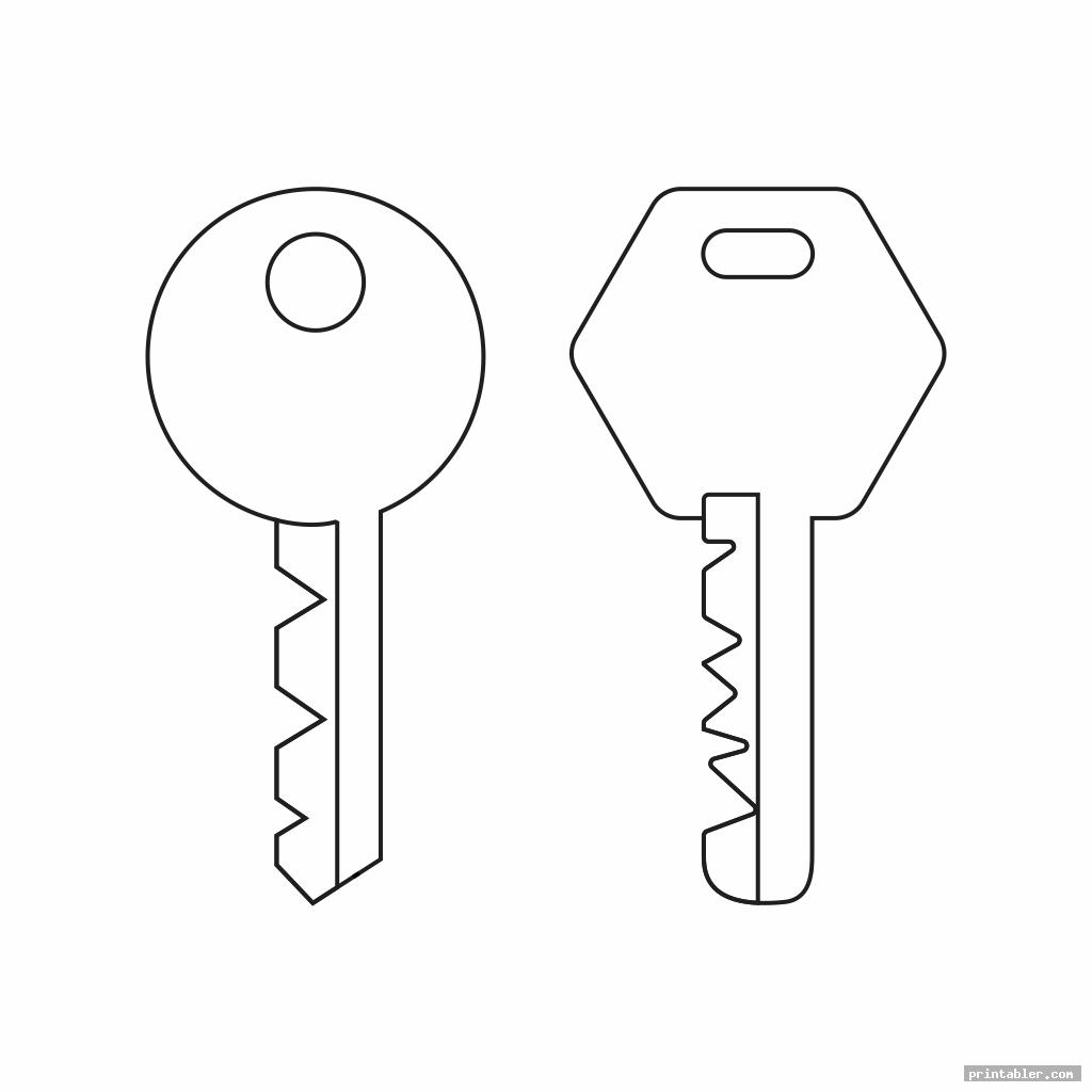 key template printable for use