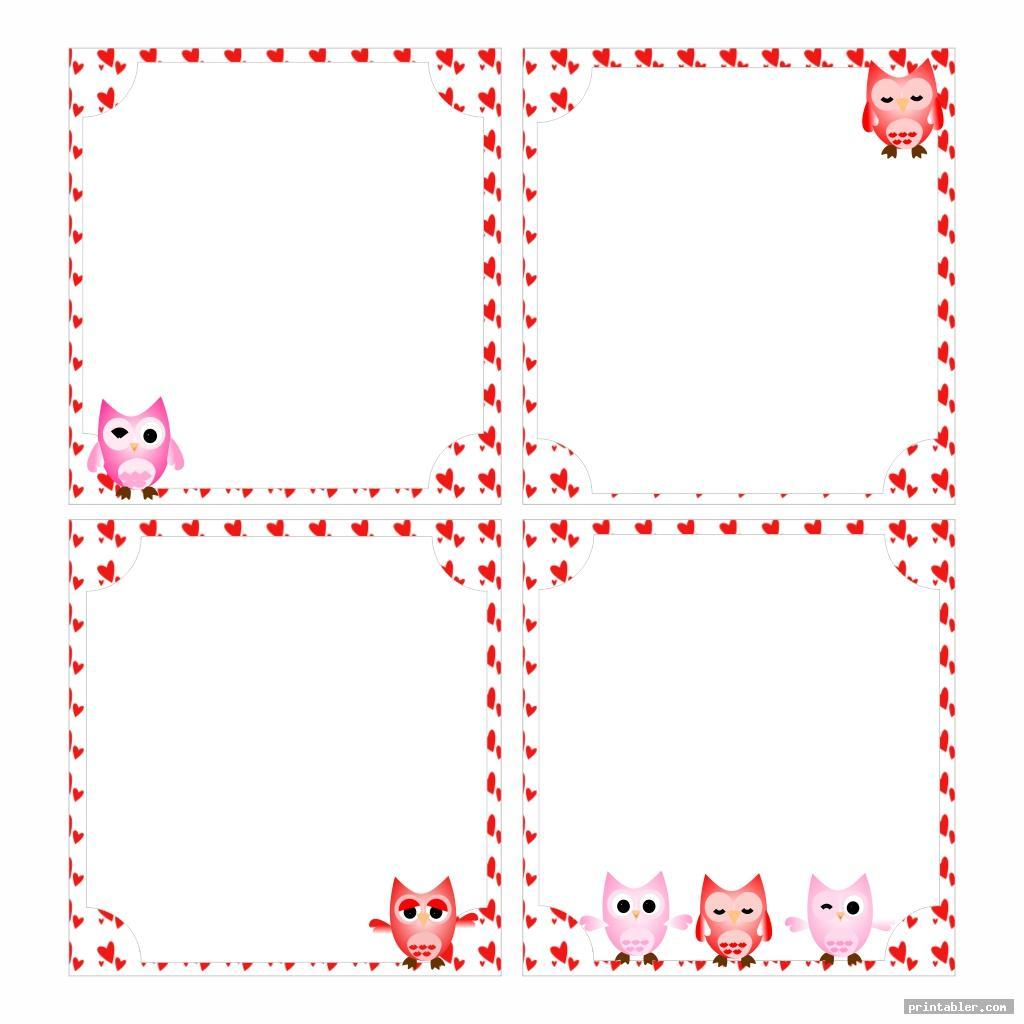 owl valentine day class list printable
