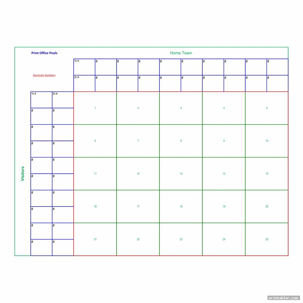 printable football pool sheets image free