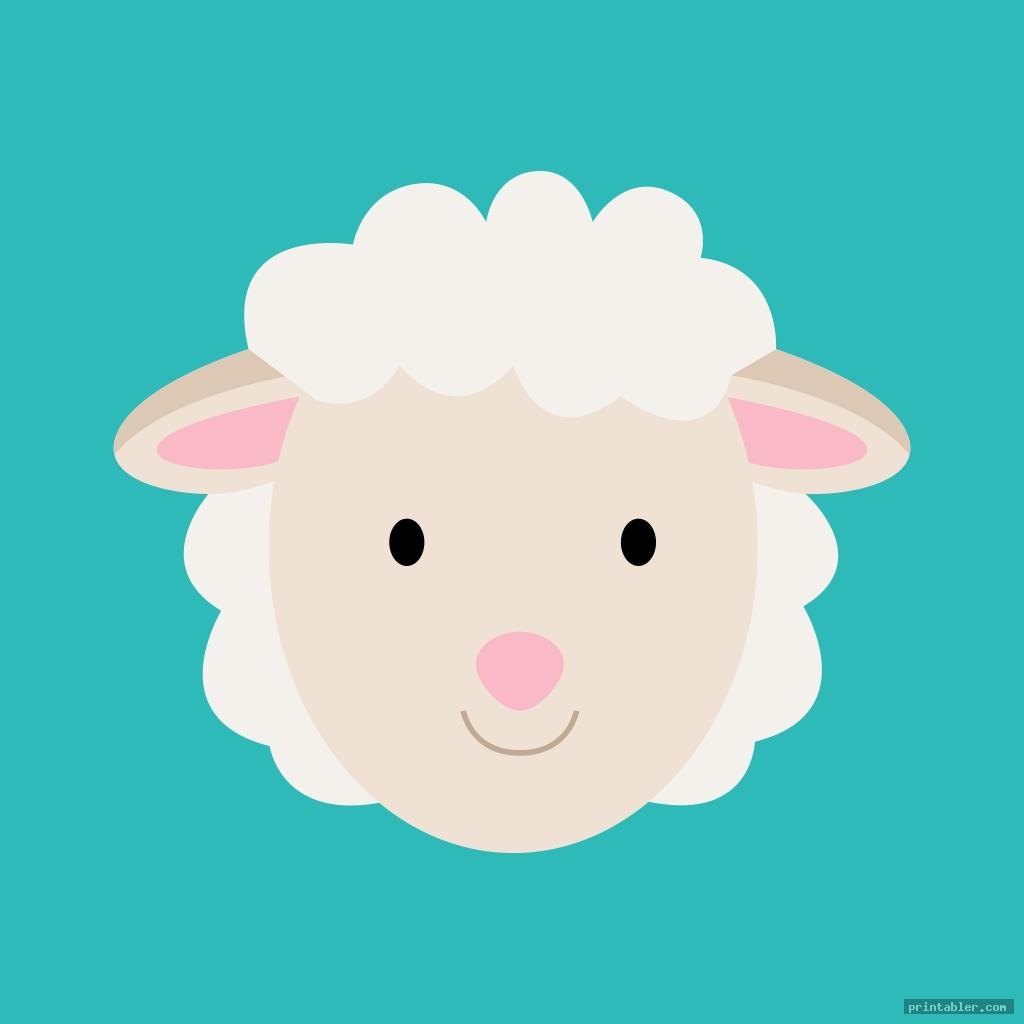 printable sheep face template