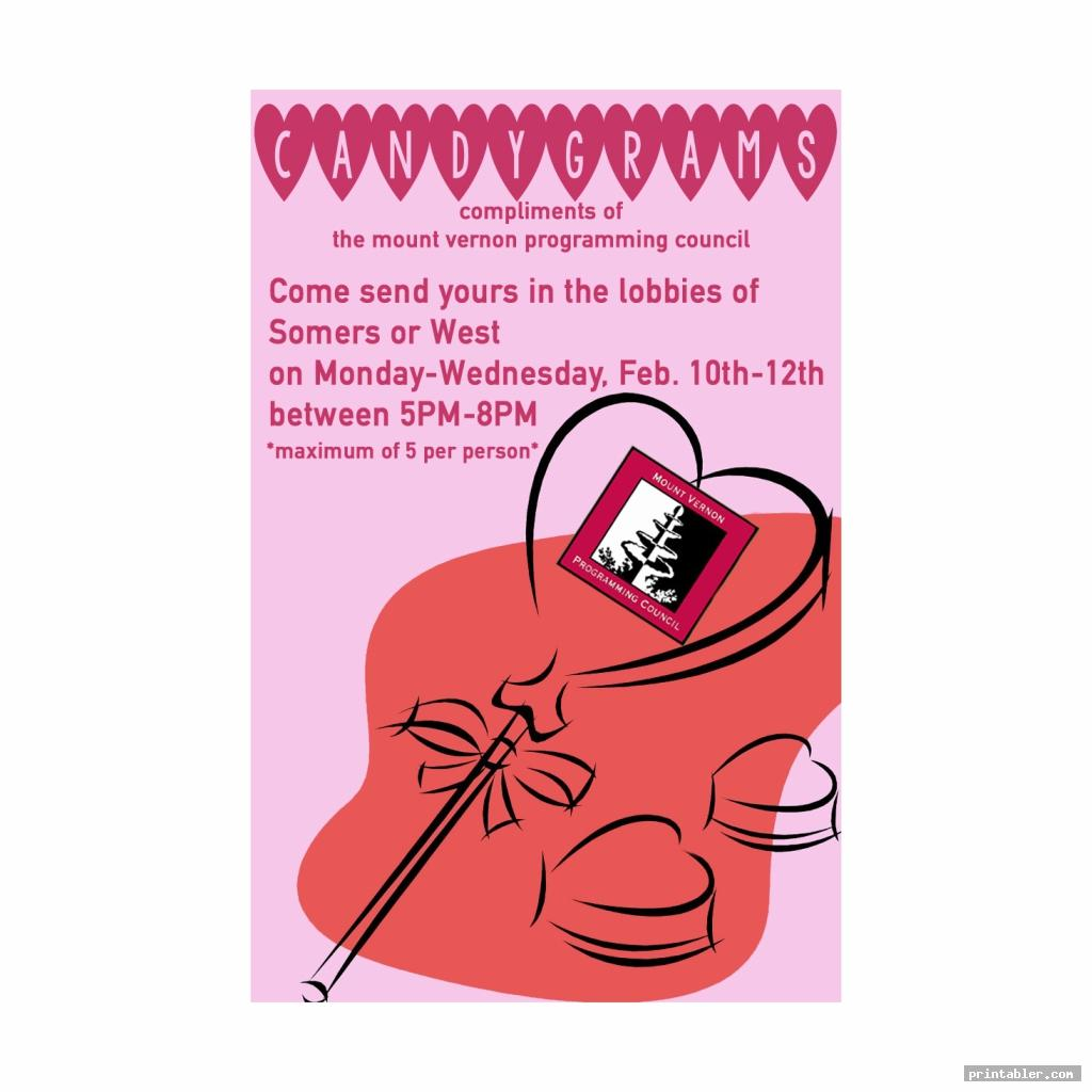 printable valentine candy grams poster