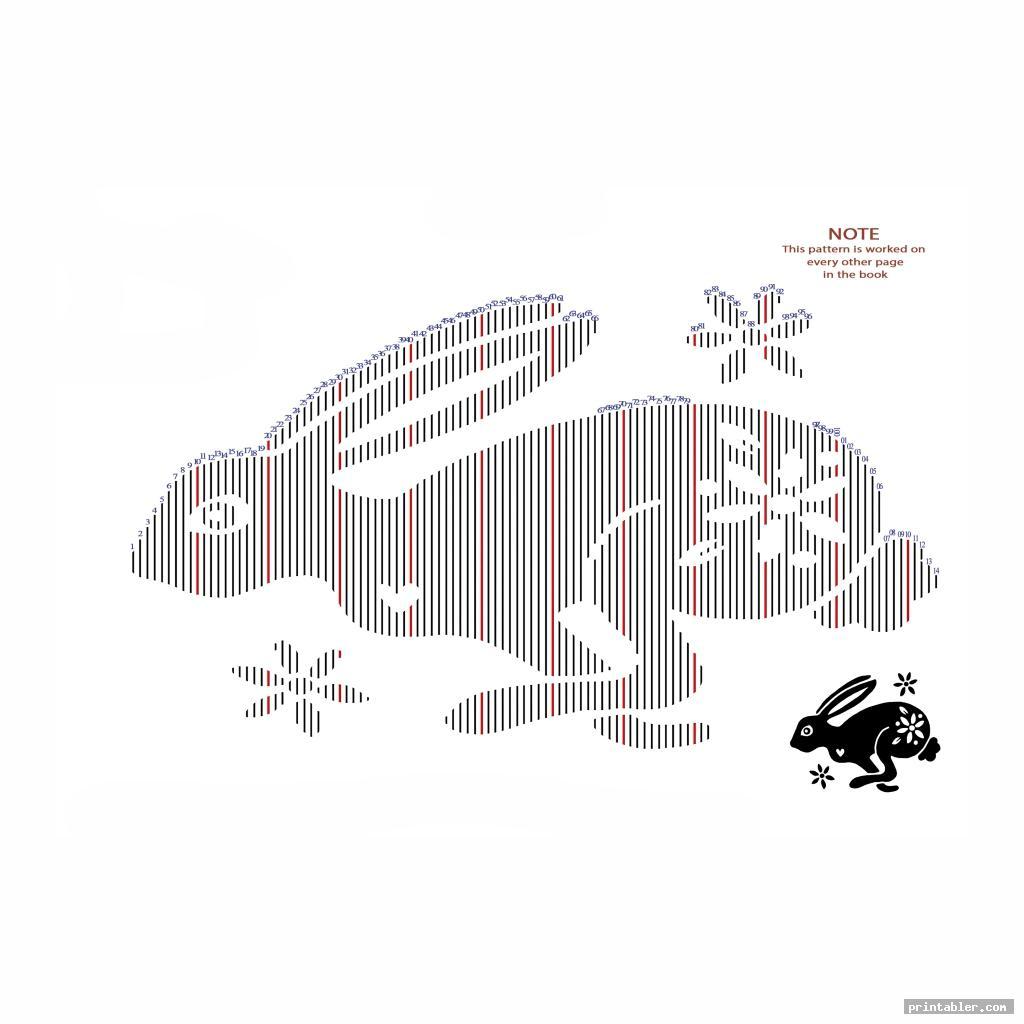 rabbit book folding template printable