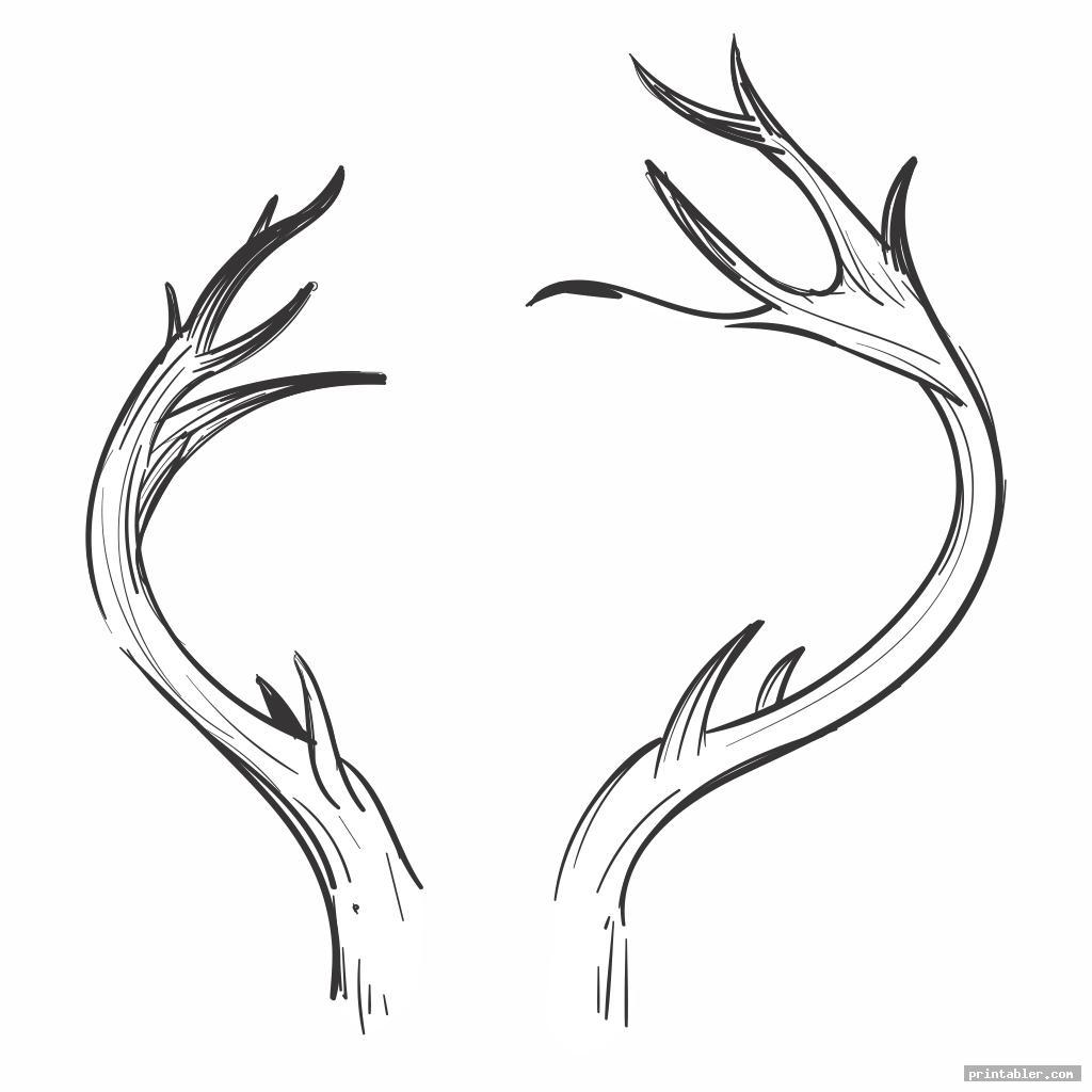 realistic antler pattern printable