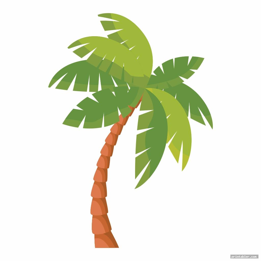 realistic coconut tree template printable