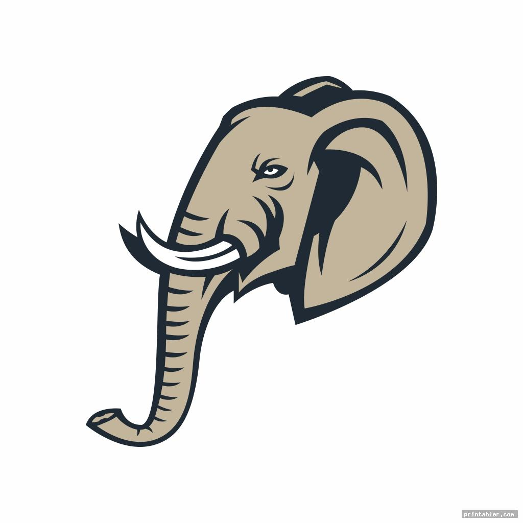 realistic printable elephant trunk