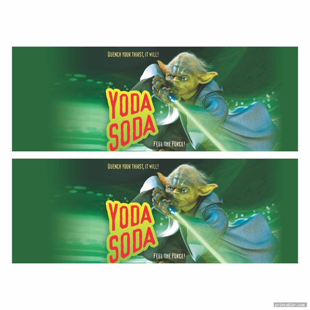 realistic yoda soda label printable