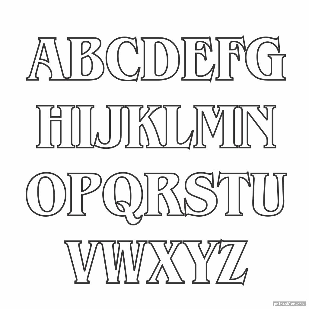 scary block letter font alphabet template