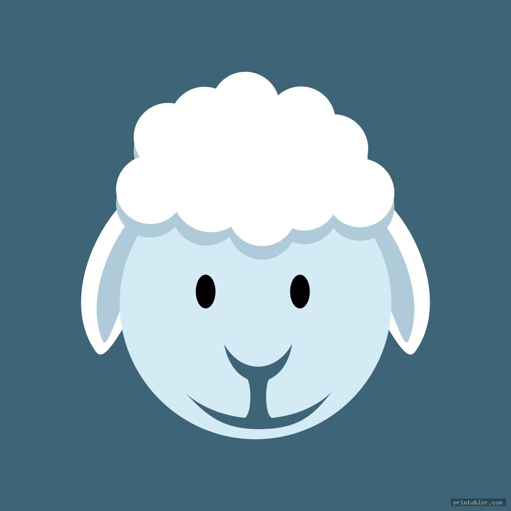 sheep face template for kids