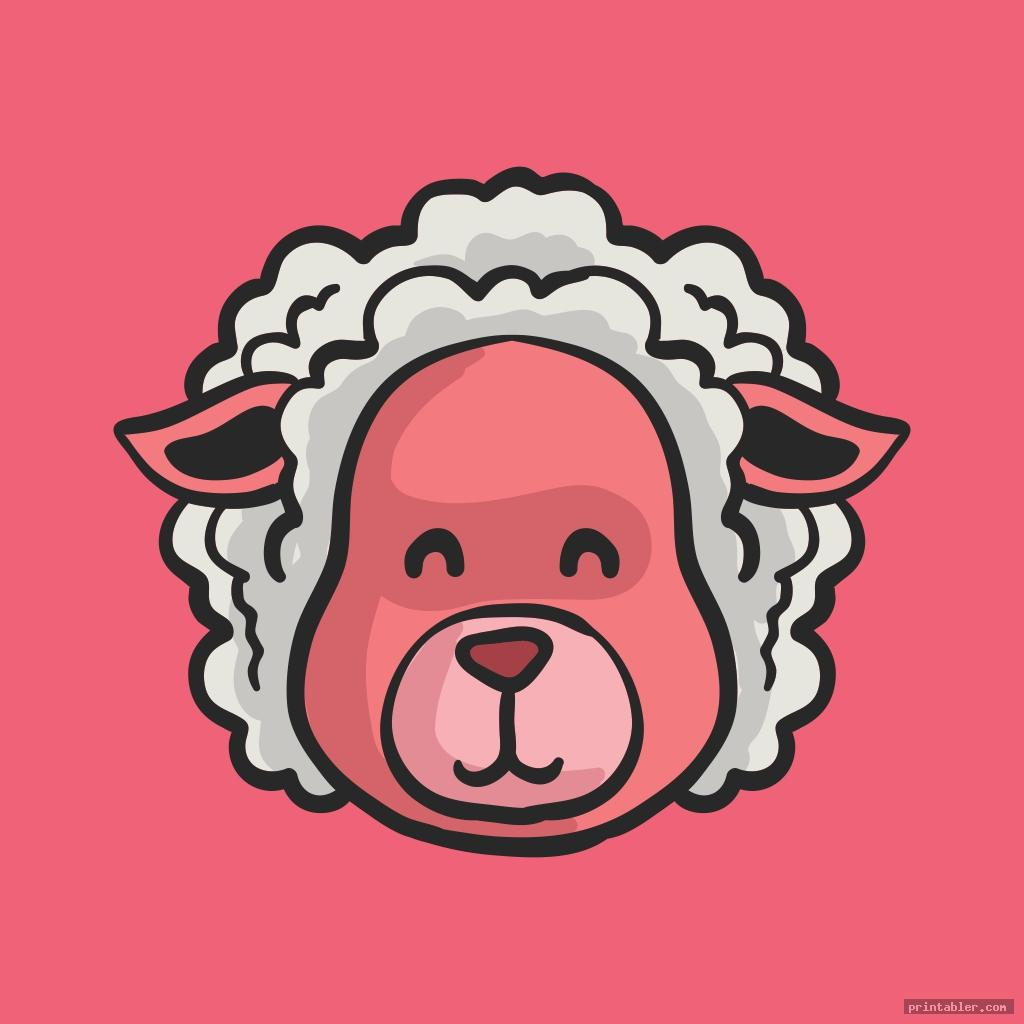 sheep face template image free