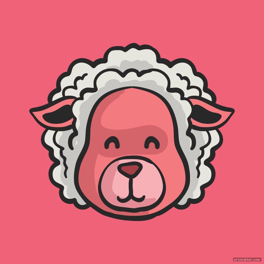 Sheep Face Template Printable - Printabler com