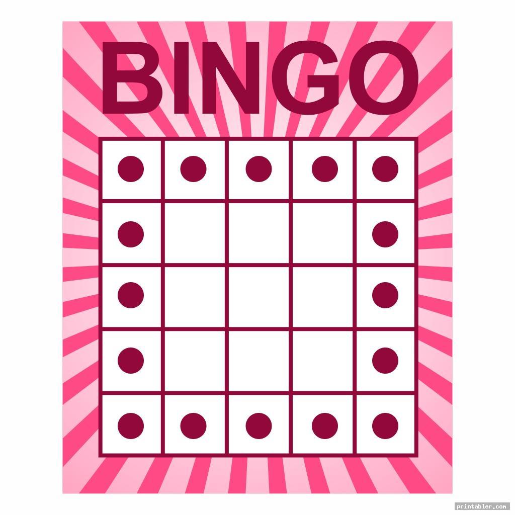 simple bingo game patterns printable