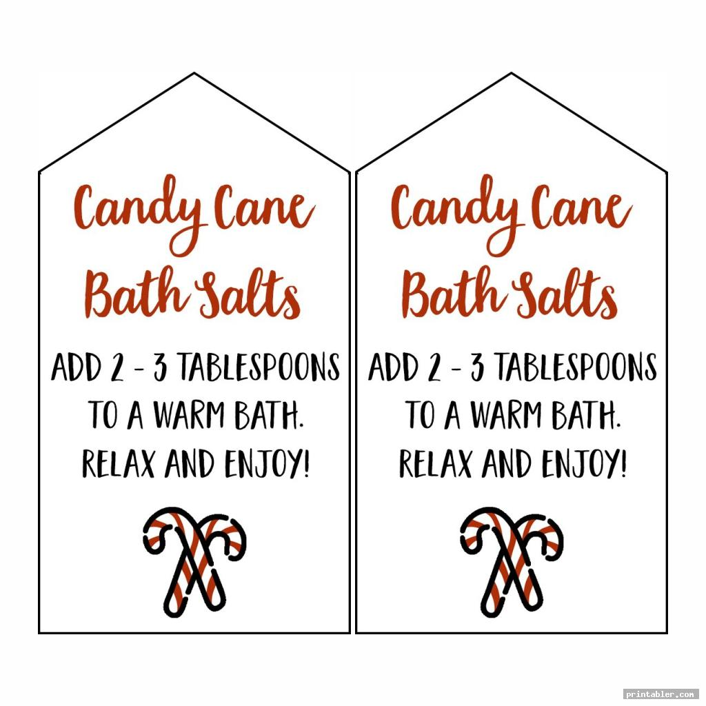 simple candy cane legend printable tags