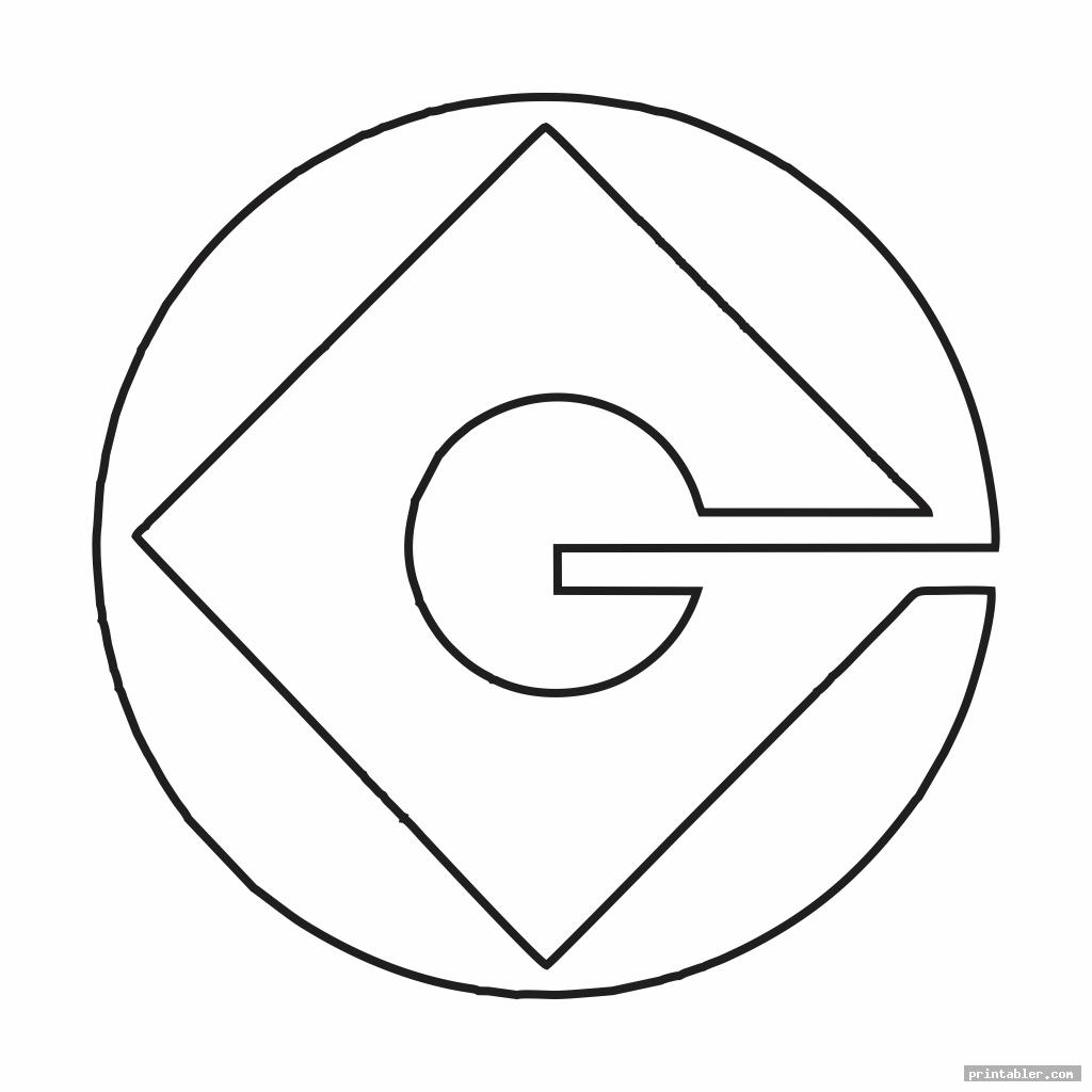 simple gru symbol stencil printable