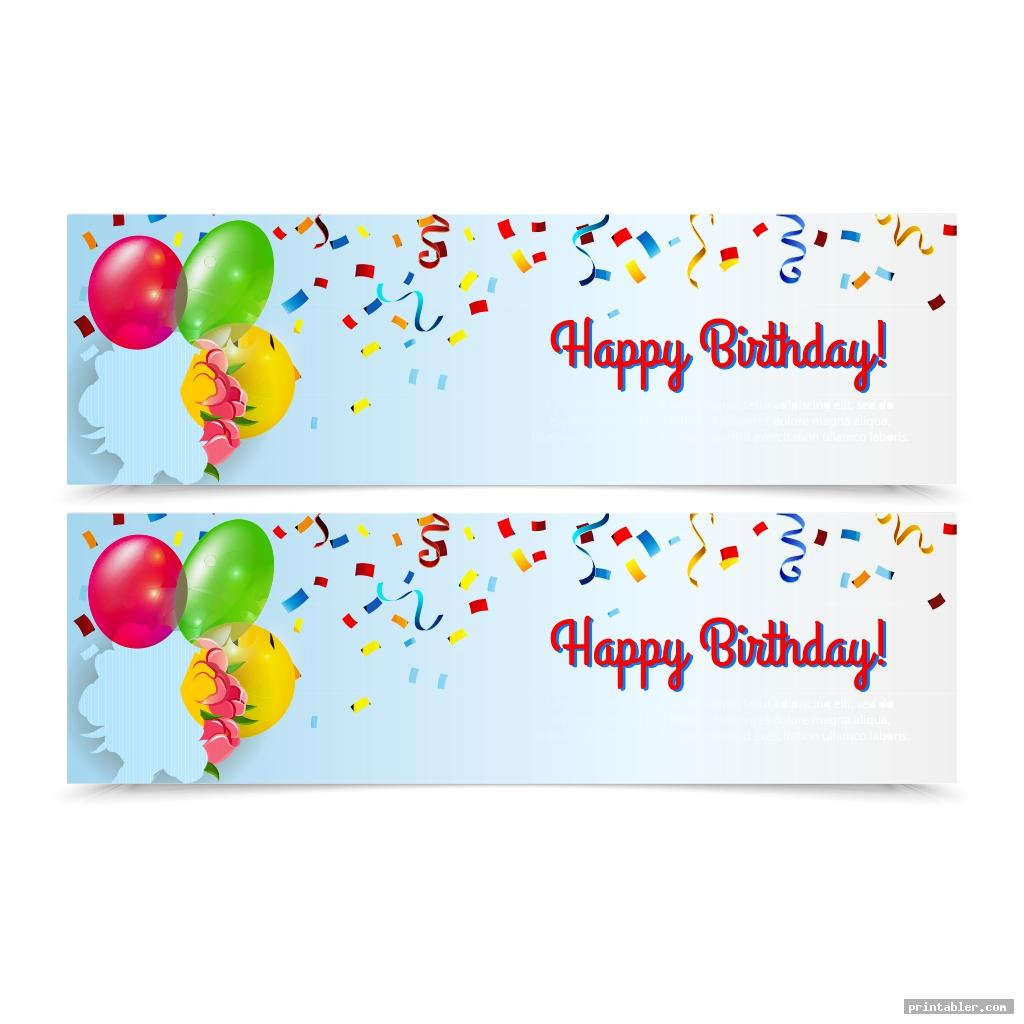 simple happy birthday banner printable