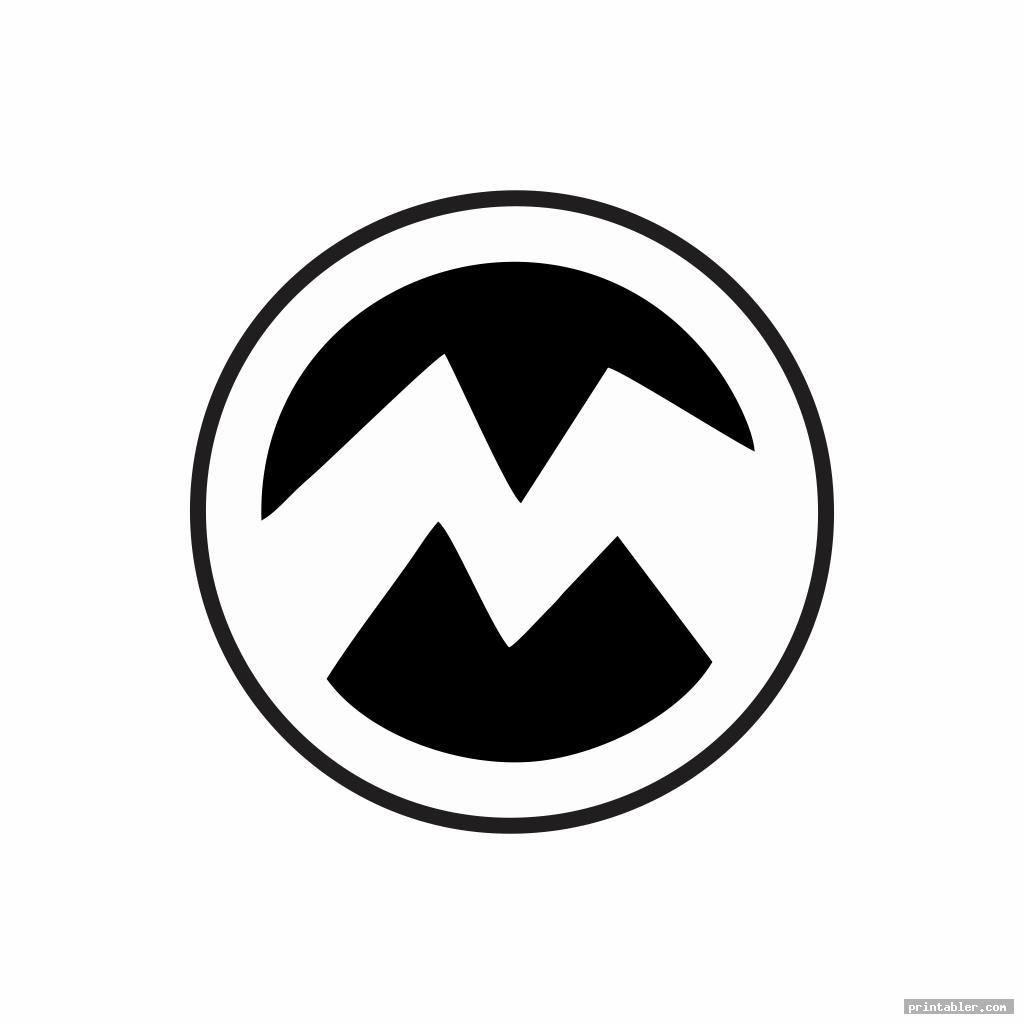 simple minion symbol stencil printable
