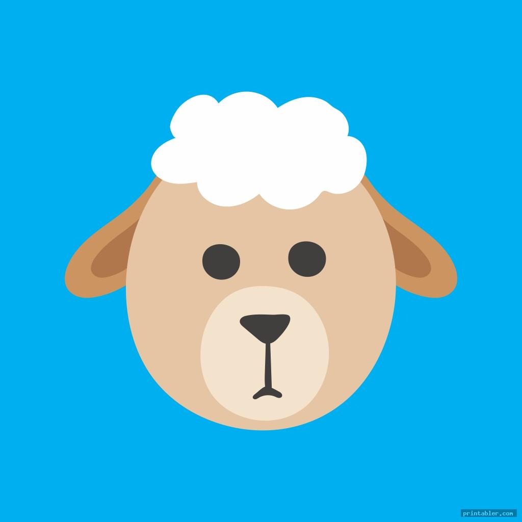simple sheep face template