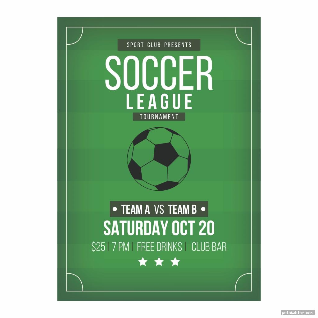 soccer party s printable flyer