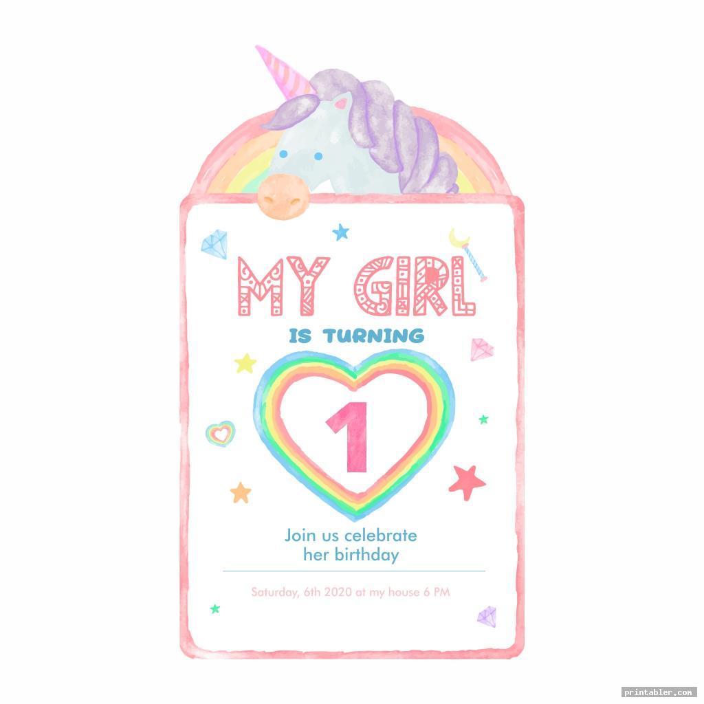 unicorn invitations printable for kids