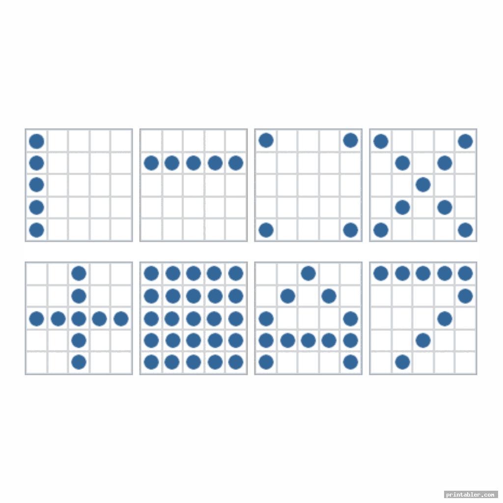 various bingo patterns printable