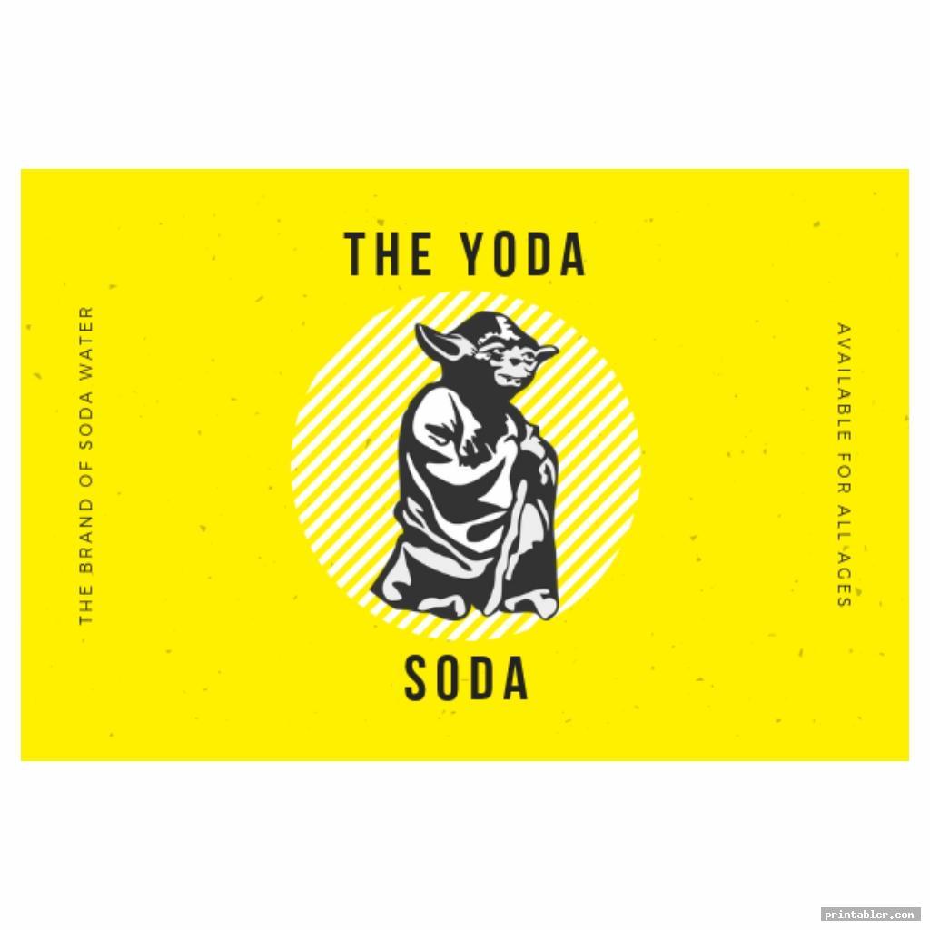 yoda soda label printable image free