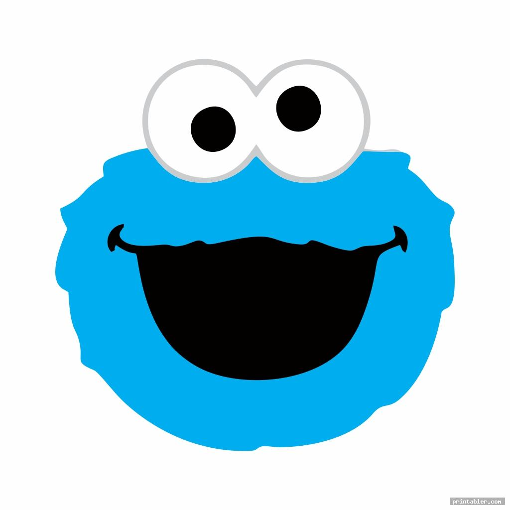 cookie monster sesame street face templates printable