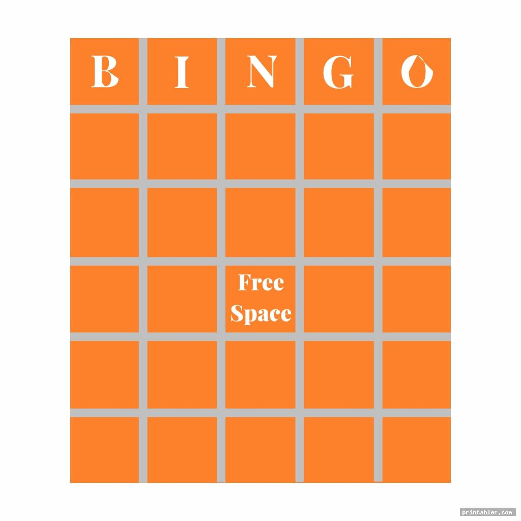 cool custom bingo card printable template