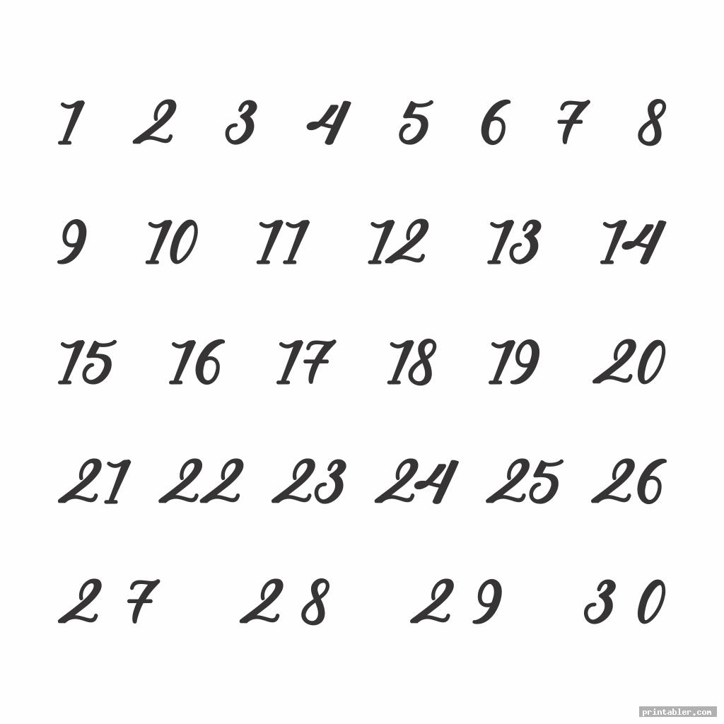 cool printable number chart 1 30