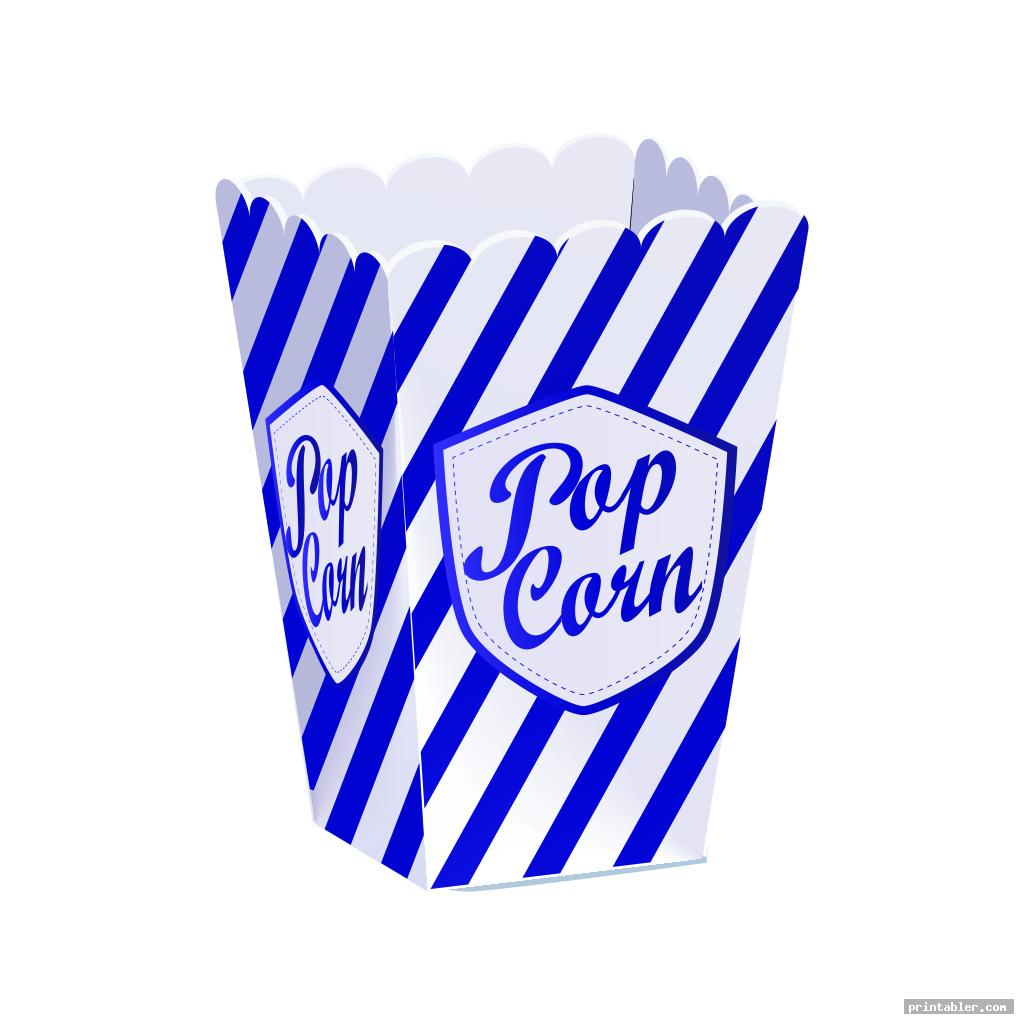 Printable Popcorn Box