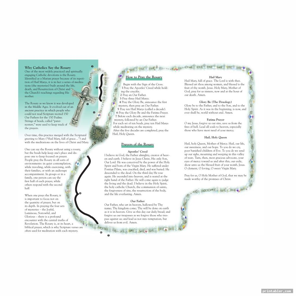 cool printable rosary pamphlet fold