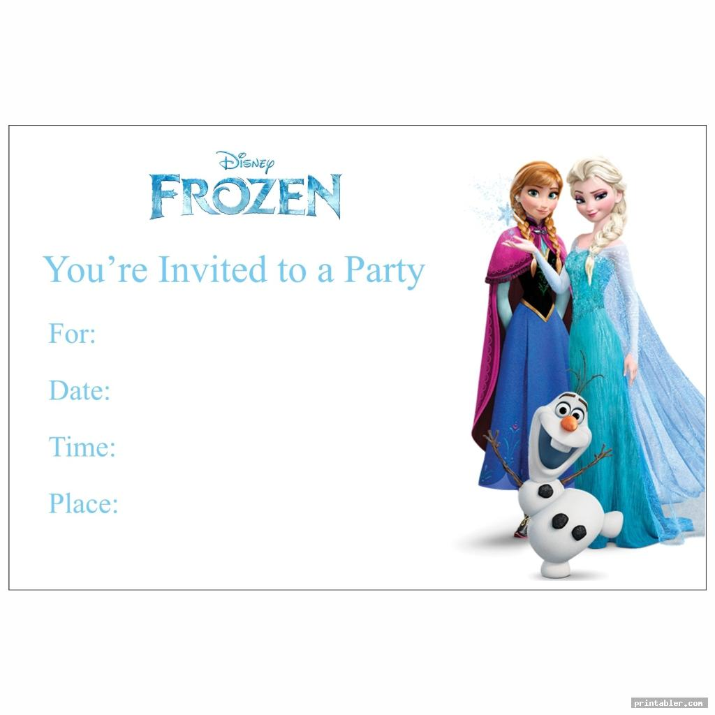 cute frozen birthday invitations printable