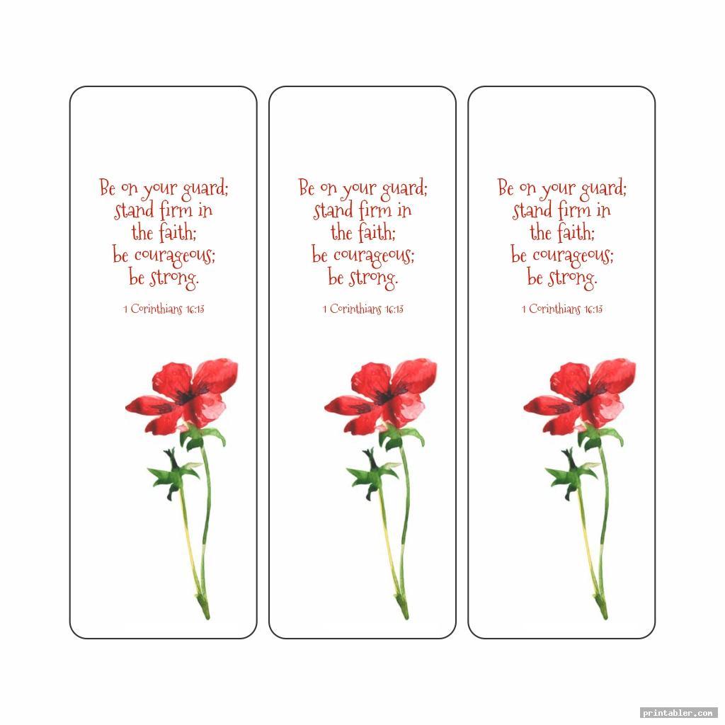 Printable Bible Verse Bookmarks