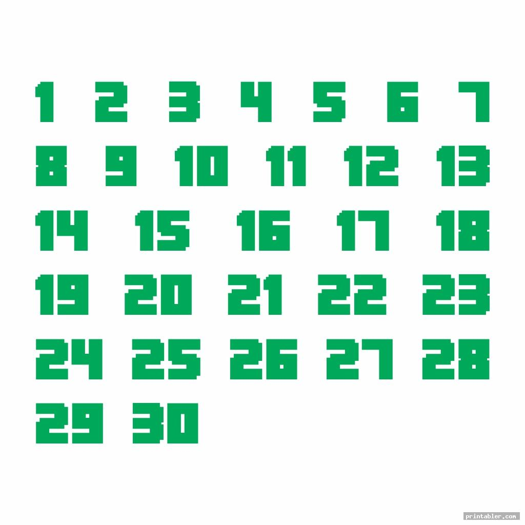 cute printable number chart 1 30