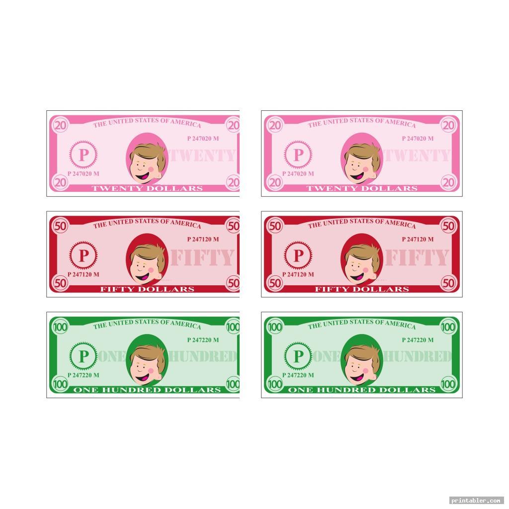 cute printable phony money
