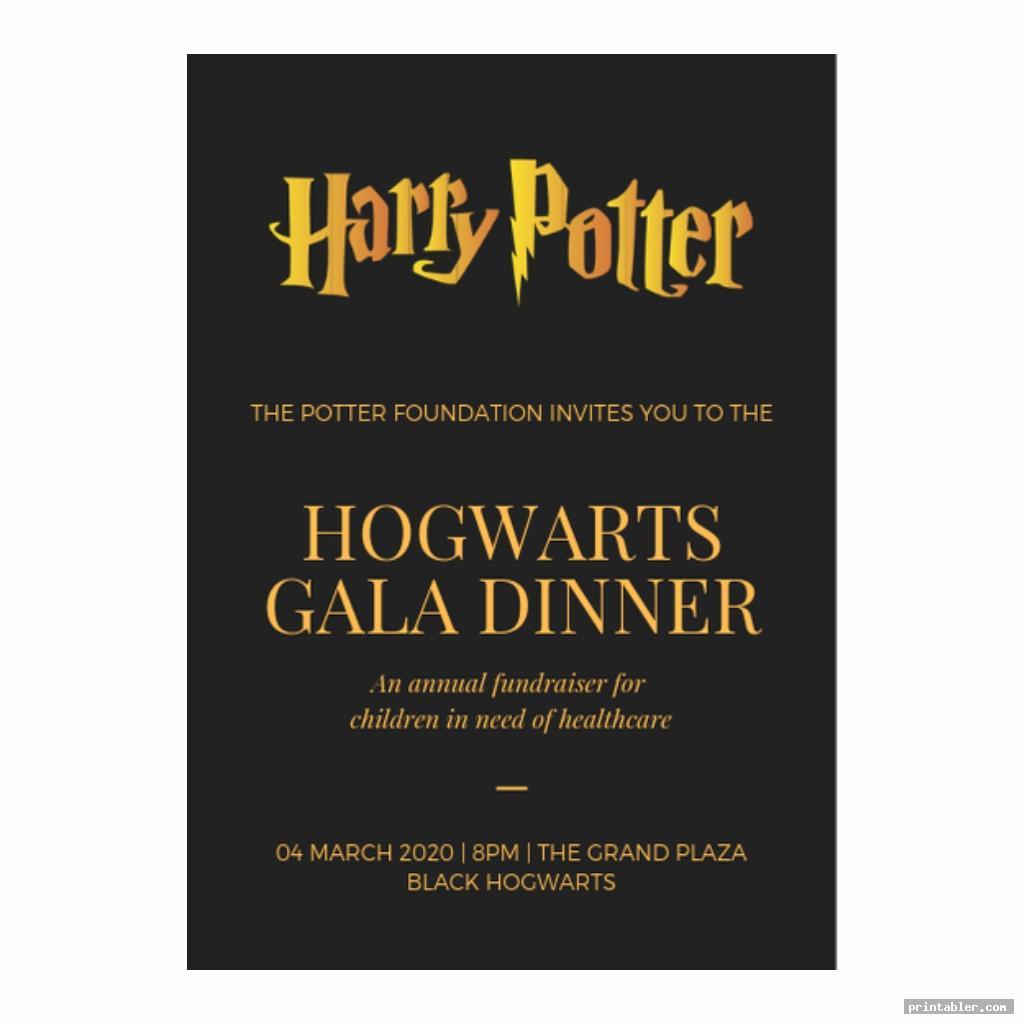 elegant harry potter invitation printable