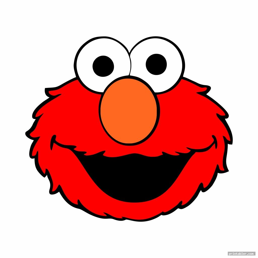 elmo sesame street face templates printable