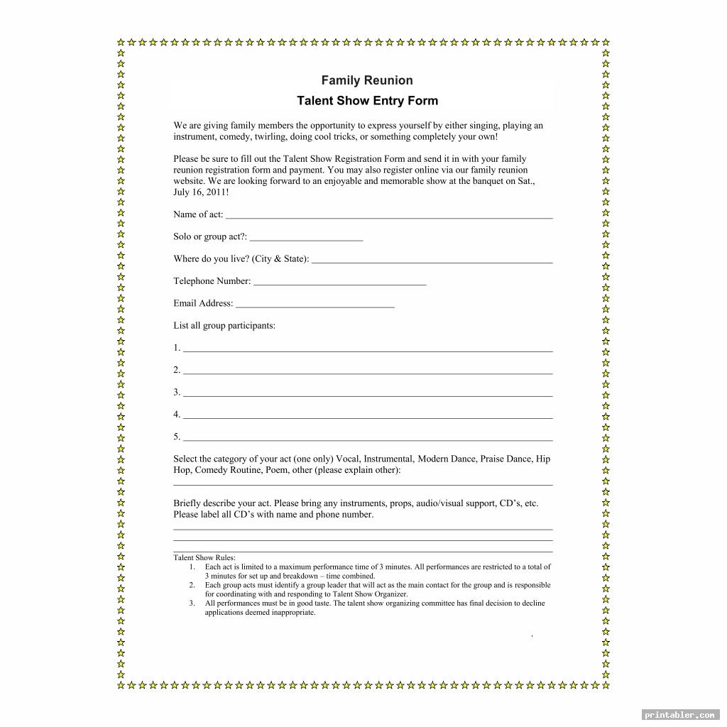 family reunion forms printable image free