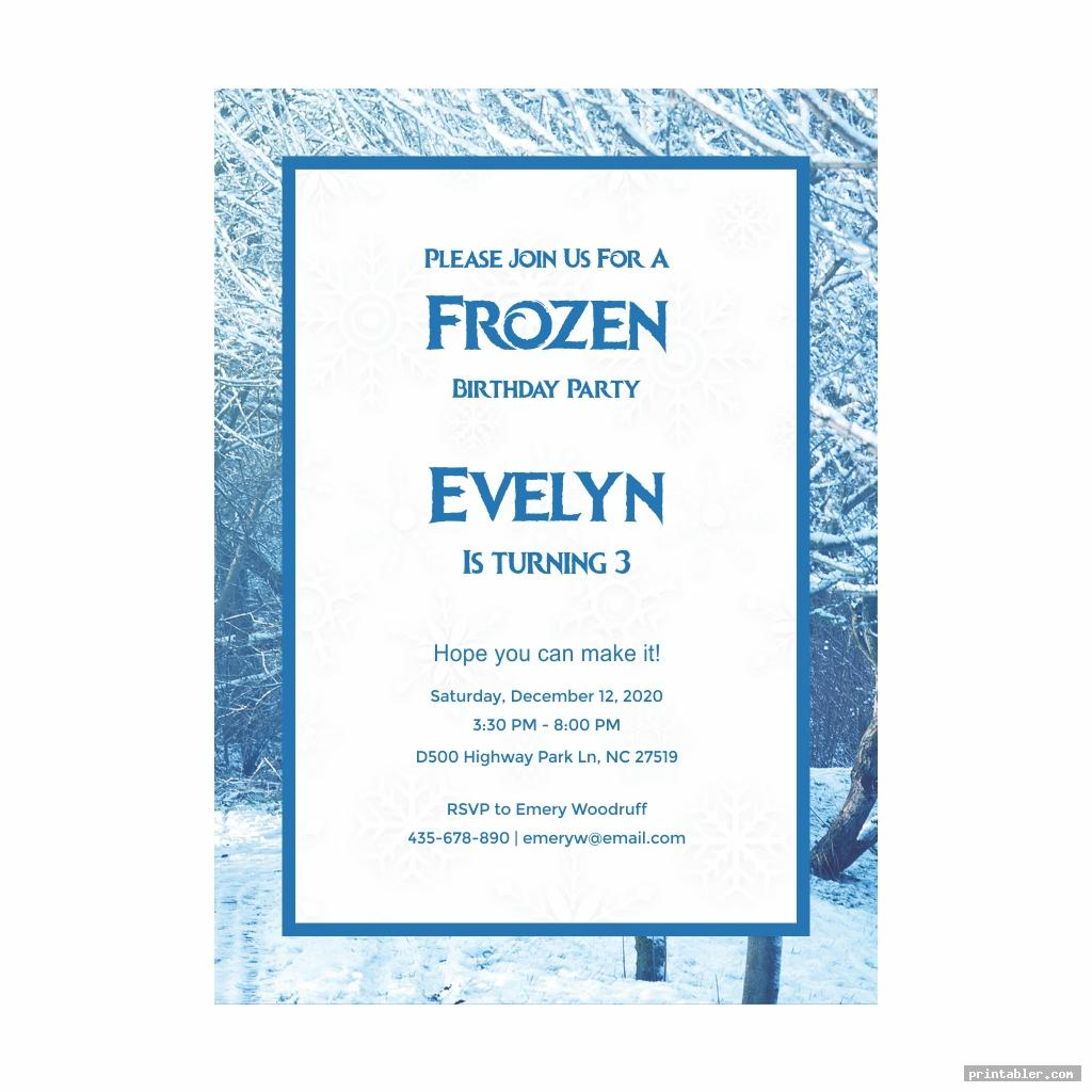 frozen birthday invitations printable for use