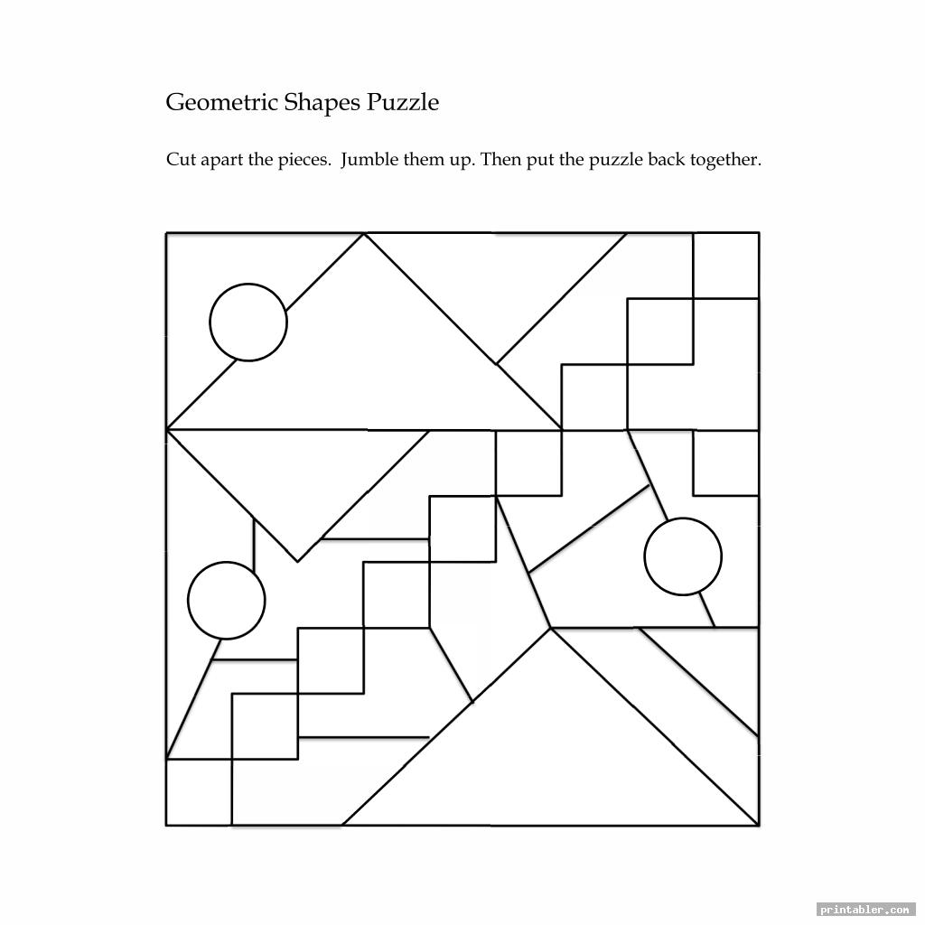 geometric printable brain teasers